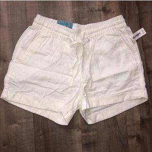 NWT women's Old Navy shorts white size XS